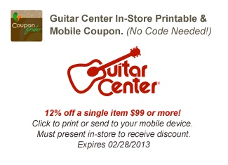guitar center discount codes 2018