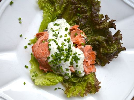 Poached Salmon With Dill Horseradish Sauce | Recipe