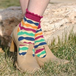 Nellie Stripe Anklet Socks by Sweet Marcel at Lark