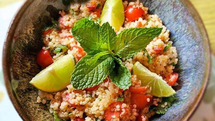 Quinoa Salad Recipe with Lime Fresh Mint VEGAN