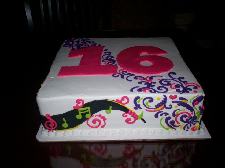 Birthday Cake Images With Name Deepa : 16th birthday cake Cute Bday Party Ideas Pinterest