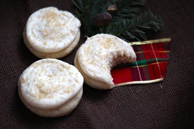 Big Soft Frosted Eggnog Sugar Cookies | Recipe