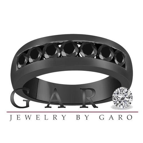 ... Black Gold 1 02 Ct 6mm Men's Wedding Fancy Black Diamond Band | eBay