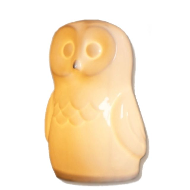 Porcelain White Owl Night Lamp - what a beautiful #babygift and keepsake! #PNshop