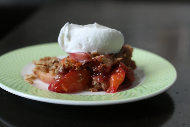 ... Double-Crusted Nectarine, Blackberry, Almond Crisp: Long summer days