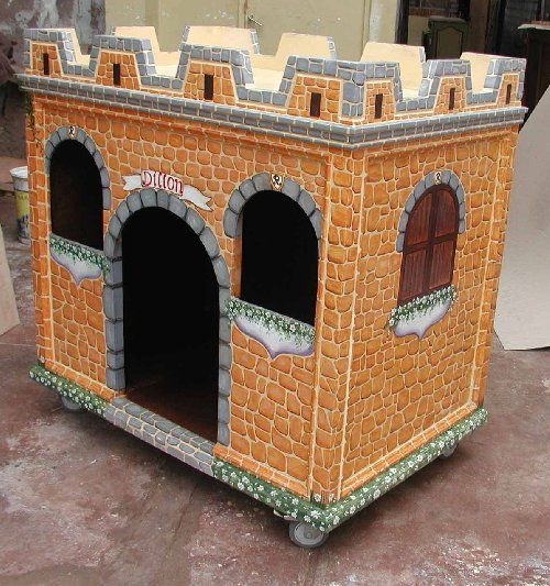 Architectural Dog Castle Custom Dog Houses Custom Cat Houses