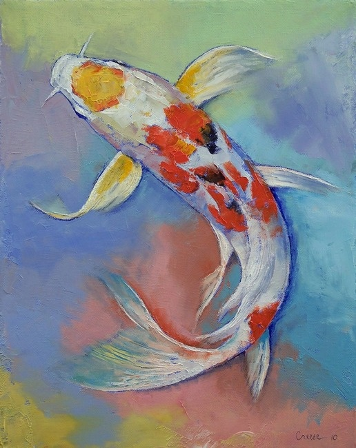 Butterfly koi fish by michael creese for Butterfly koi fish
