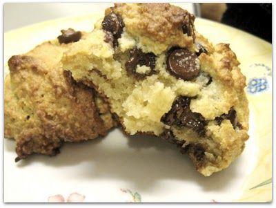 Gluten Free Chocolate Chip Scones from Elana's Pantry (Almond Flour)