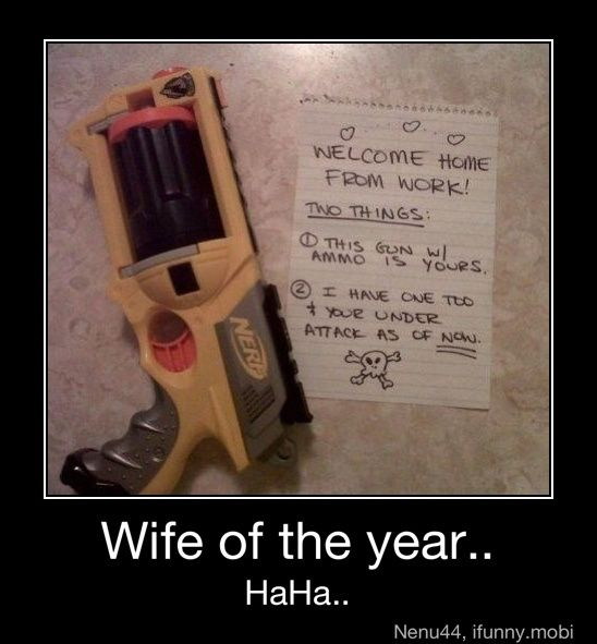 This wife should be Wife of the Year! Like seriouslyyy!(: