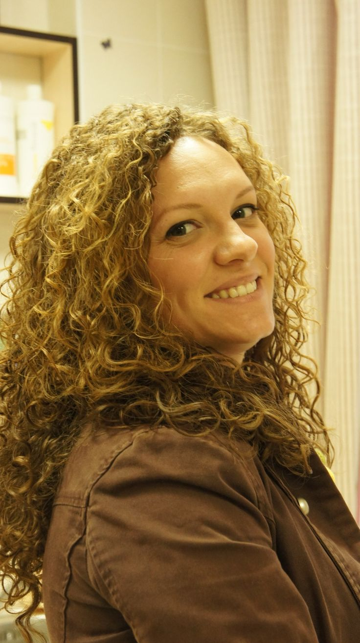 perm with looser curl in long hair | Curly Hair / Perms | Pinterest