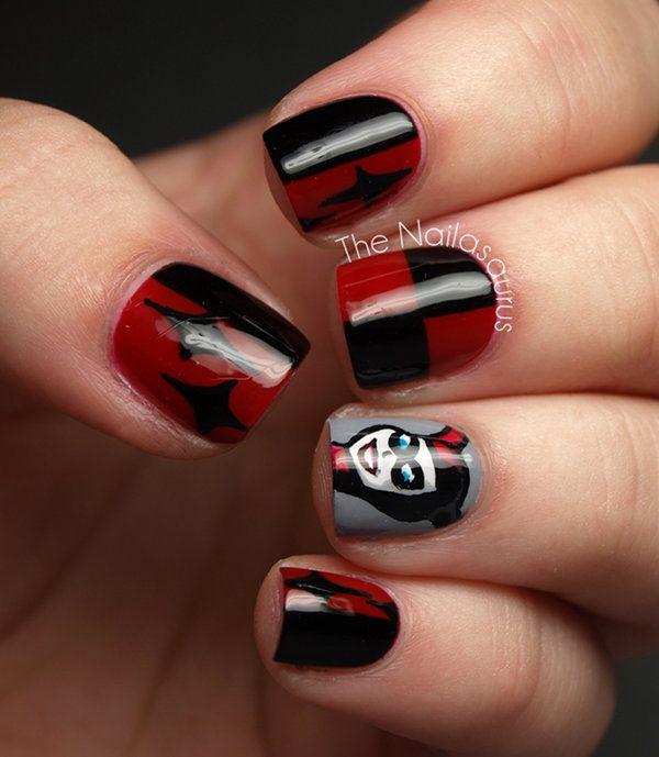 Harley Quinn Nail Art