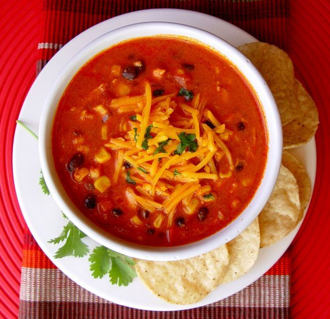 Chicken Enchilada Soup (Crock Pot) | Recipes for the weekend | Pinter ...