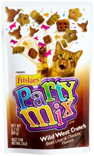 Friskies Party Mix, Wild West Crunch Cat Treats, 2.1-Ounce Packages ...