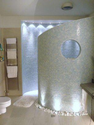 tiled spiral shower