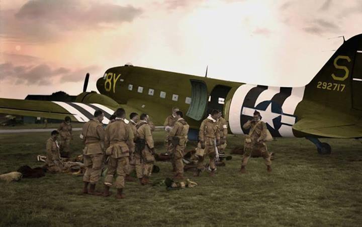 d-day airborne landings map