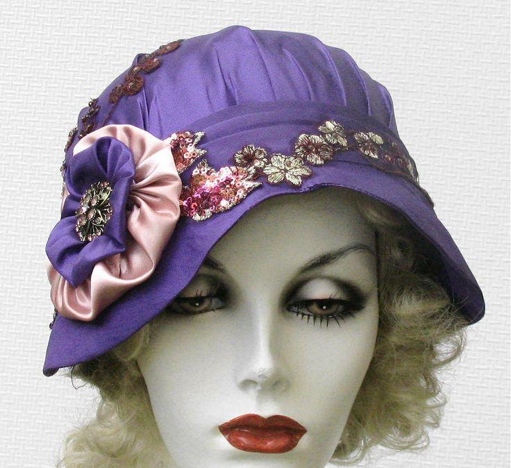 unique elaborate womens hat cloche hat 1920s flapper