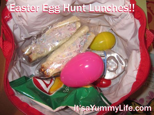 ... Egg Lunch Hunt. Yes, I dyed the eggs in the sandwich. Easy Peasy