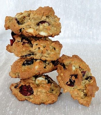 Oatmeal Cranberry White Choc Chunk Cookies - one of my faves