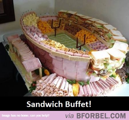 Sandwich Buffet- Stadium Style! | to eat | Pinterest
