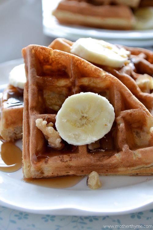 Banana Bread Waffles | Good Morning | Pinterest
