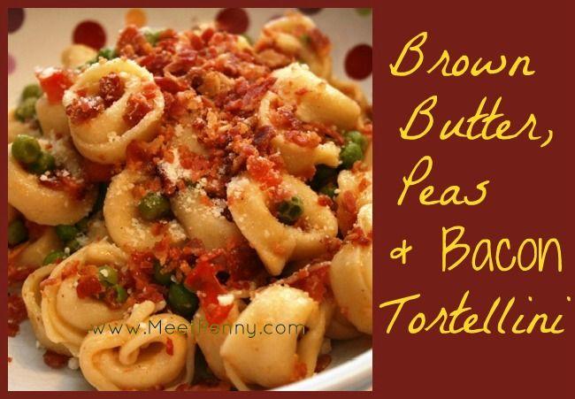 Brown Butter, Peas & Bacon Tortellini | Recipe
