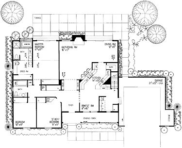 Kitchen too closed in at back house ideas pinterest for Closed kitchen floor plans