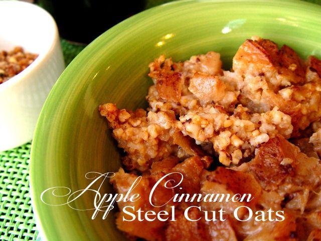 Overnight Apple Cinnamon Steel Cut Oats (Crock Pot)-Recipe for steel ...