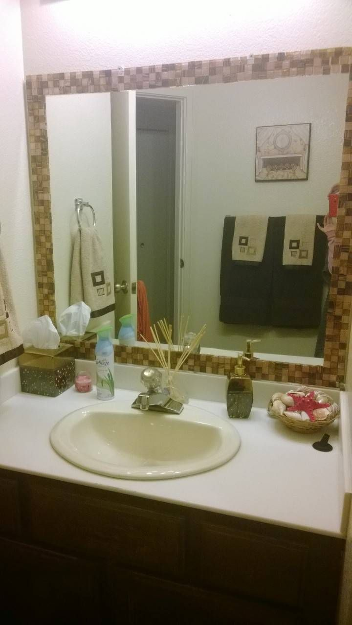 diy bathroom mirror makeover house hold ideas and tips pinterest