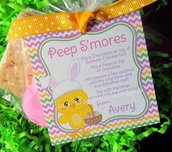 Set of 12 Easter Peeps S'Mores Party Favor Tags You by ciaobambino, $6 ...