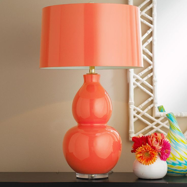 pop color modern ceramic table lamp available in 10 colors taupe wit. Black Bedroom Furniture Sets. Home Design Ideas