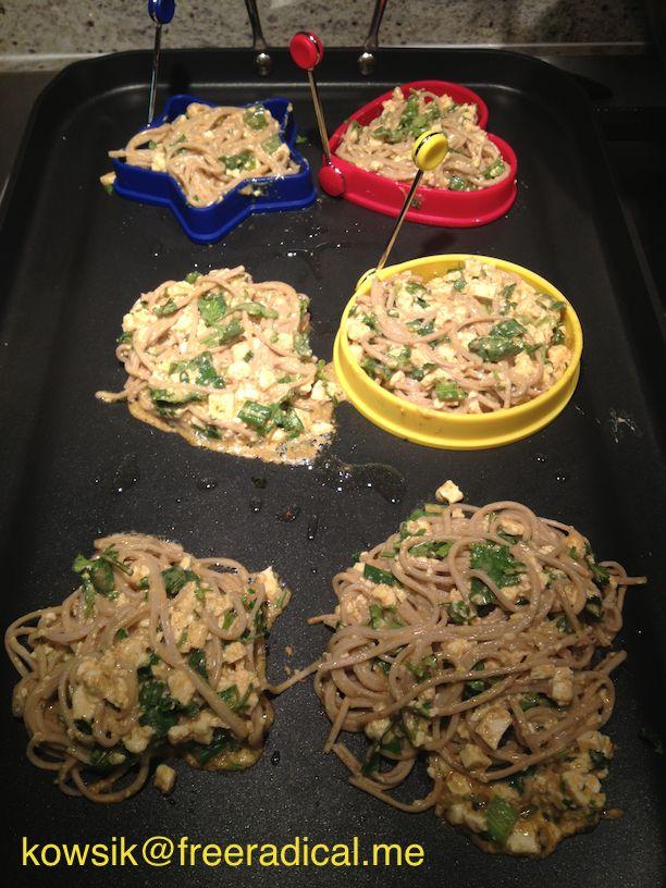 Vegan Recipe: Curried Noodle Patties - http://freeradical.me/2013/03 ...