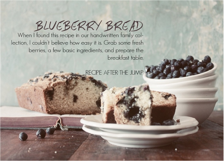 Blueberry Bread   FOLK