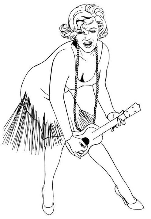printable marilyn monroe coloring pages - photo#28