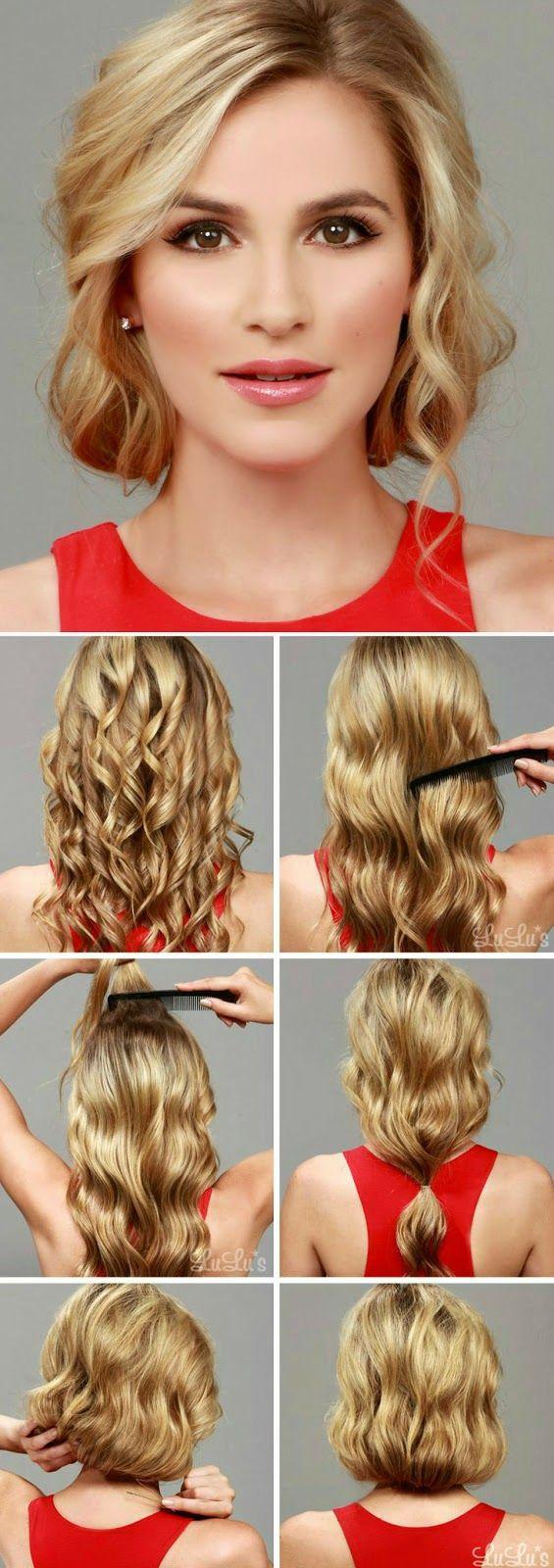 Идея причесок на средние волосы