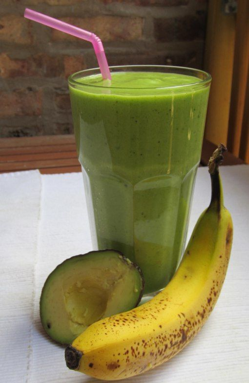 Avocado Banana Spinach Smoothie | Food and drink ideas | Pinterest