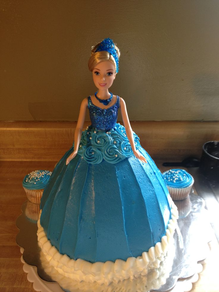 how to make a cinderella doll birthday cake