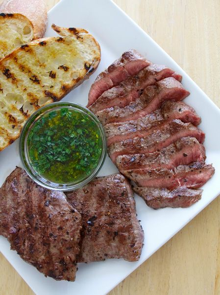 Grilled Flat Iron Steak with Chimichurri Recipe – Paired with a ...