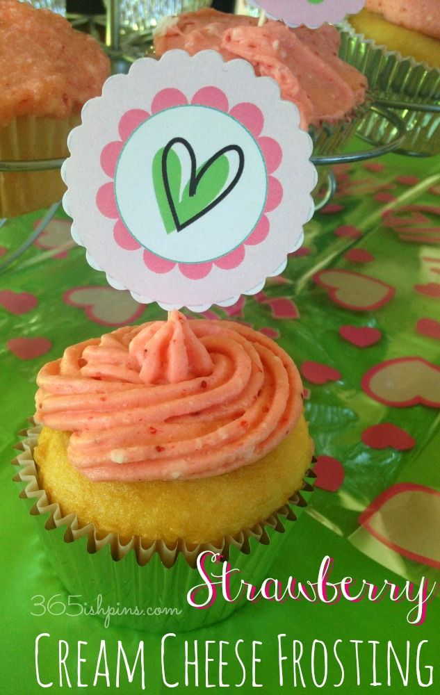 Strawberry Frosting with Cream Cheese - 365ish Days of Pinterest