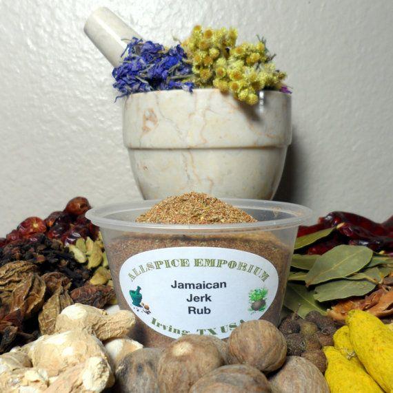 ... Jerk Rub, Spice Blend, Spice Mix, Herb Rub, Caribbean Spice, Dry Rub