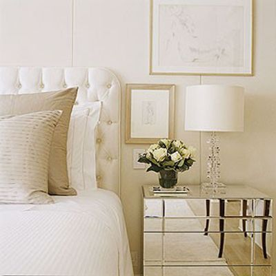 mirrored bedside tables my dream bedroom pinterest