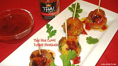 Thai Red Curry Turkey Meatballs - A New York Foodie