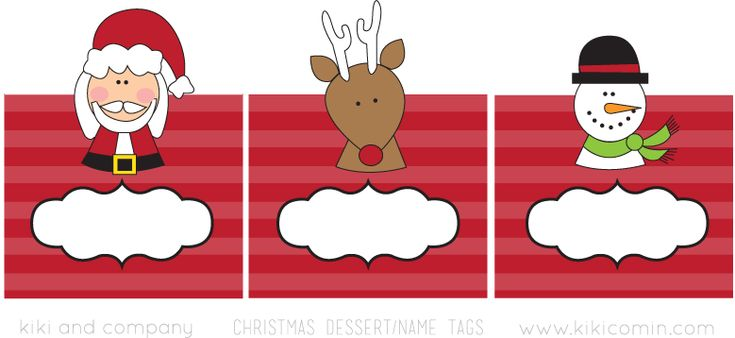 free christmas tags for place cards....from kiki & company blog