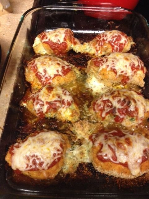 Chicken Rollatini With Spinach Alla Parmigiana Recipe ...