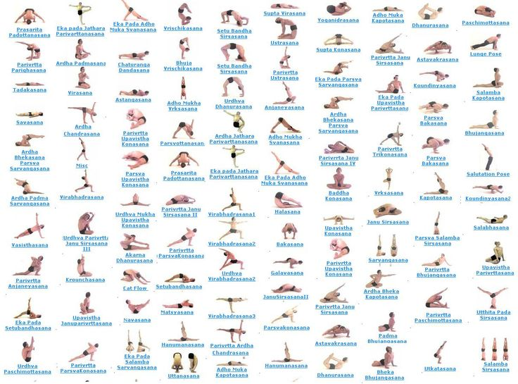 Names of Yoga Poses