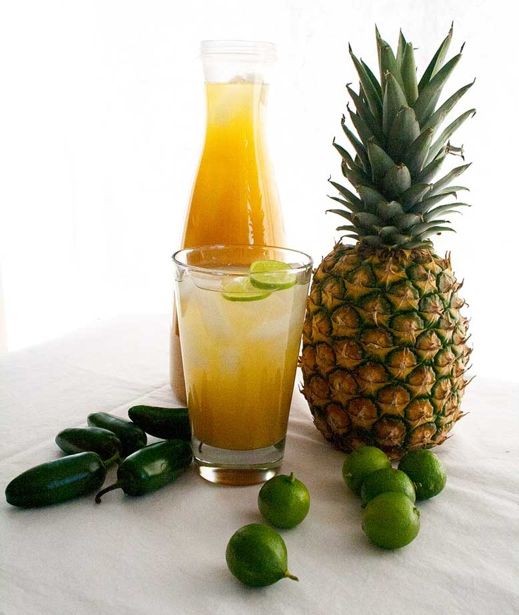 Roasted Pineapple Limeade - cool, tall and dewy. Recipe adapted from ...