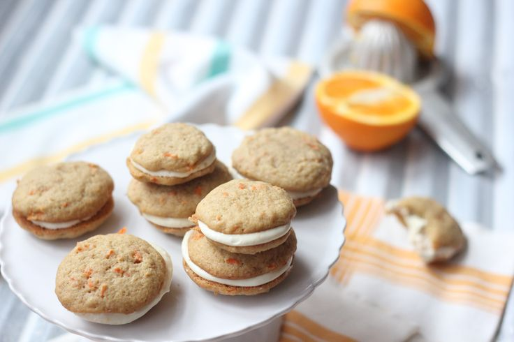 Carrot Whoopie Pies with Orange Cream Cheese Filling -- sounds like ...
