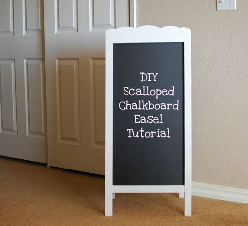 DIY: Scalloped Chalkboard Easel Tutorial
