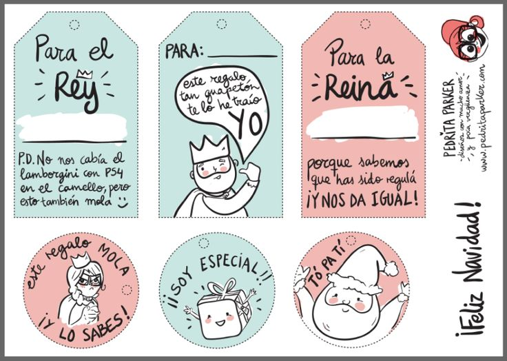 Etiquetas imprimibles con humor de Pedrita Parker