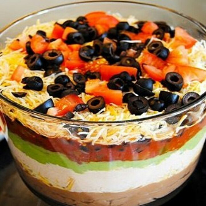 Layer Taco Dip | Appertizer | Pinterest