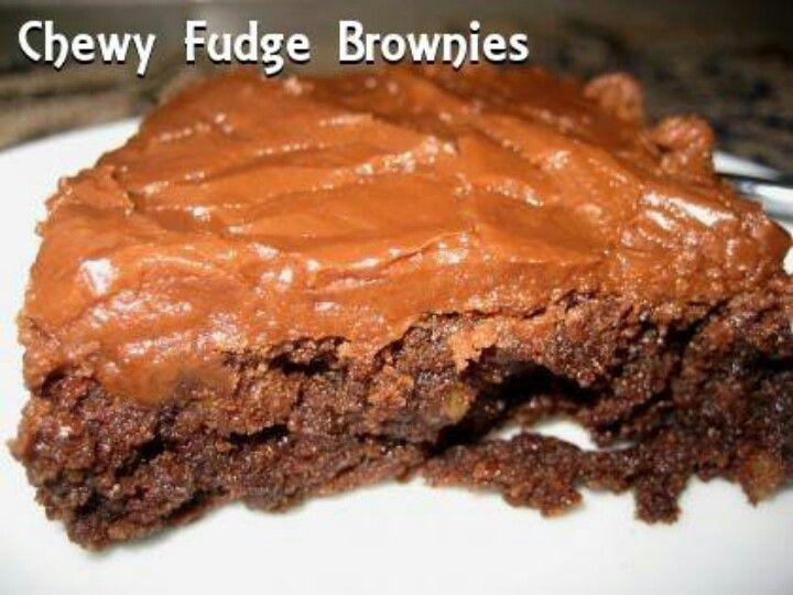 Chewy Fudge Brownies | SWEET TREATS | Pinterest